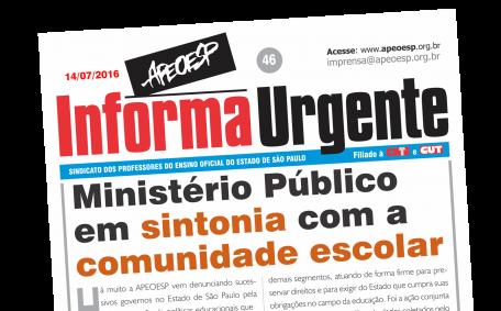 Ministério Público de Contas do Estado de São Paulo protocolou representação contra a Secretaria de Estado da Educação