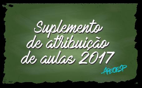 Suplemento de atribuição de aulas 2017