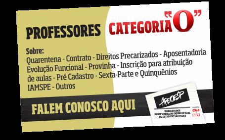 PROFESSORES CATEGORIA O - DÚVIDAS, ESCLARECIMENTOS E INFORMAÇÕES CLIQUEM AQUI