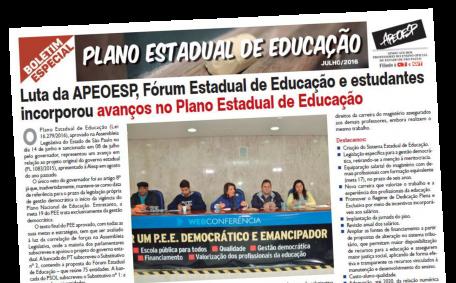 Boletim PEE - Plano Estadual de Educação julho 2016