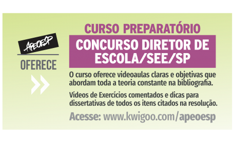 APEOESP oferece Curso Preparatório para Concurso Diretor de Escola/SEE/SP